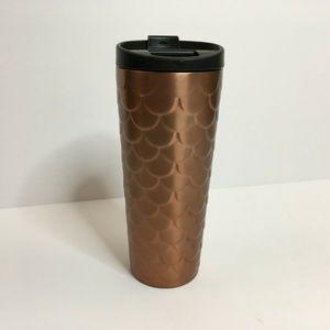 Starbucks Rose Gold Copper Scales Travel Mug 16oz